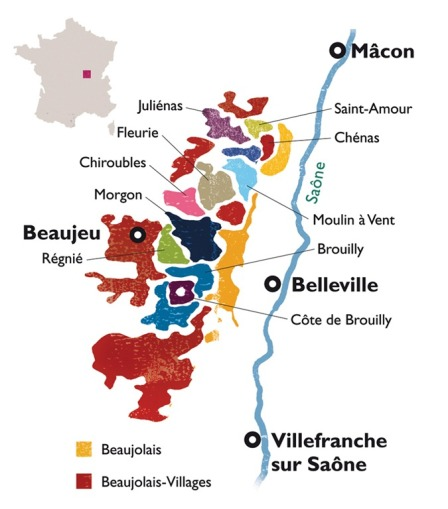 Beaujolais-Wine-Map