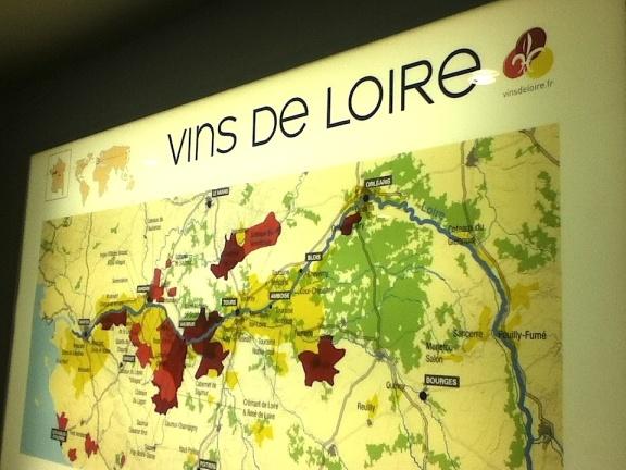 Vins de Loire Map