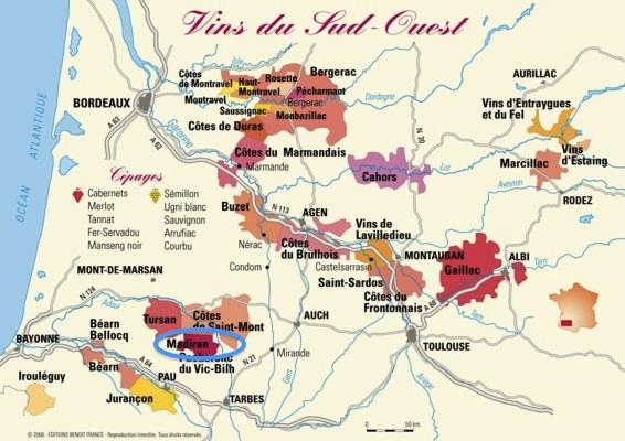 Madiran Map