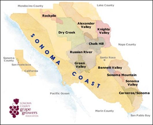 Sonoma-Wine-Map