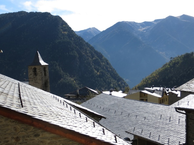 Andorra Mountains And Rooflines