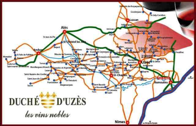 Duche D Uzes Map