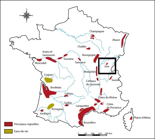 Jura France wine Map