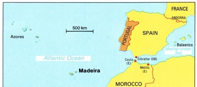 Madiera Map