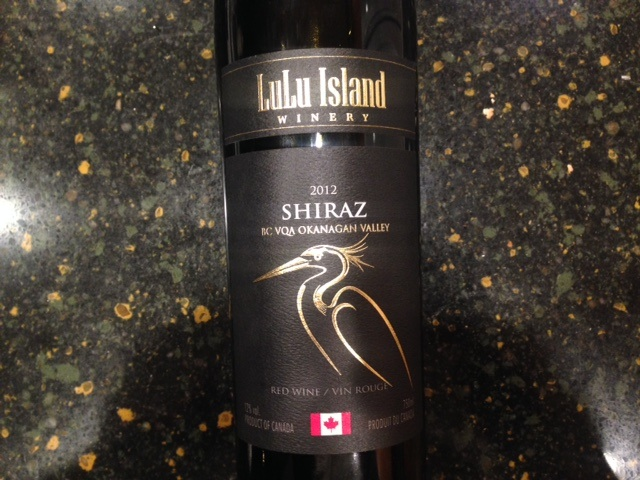 Lulu Island Winery Shiraz 2012 Okanagan Valley Canada
