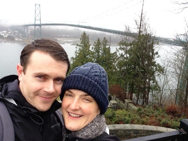 Tracy and Aaron Lions Gate Bridge