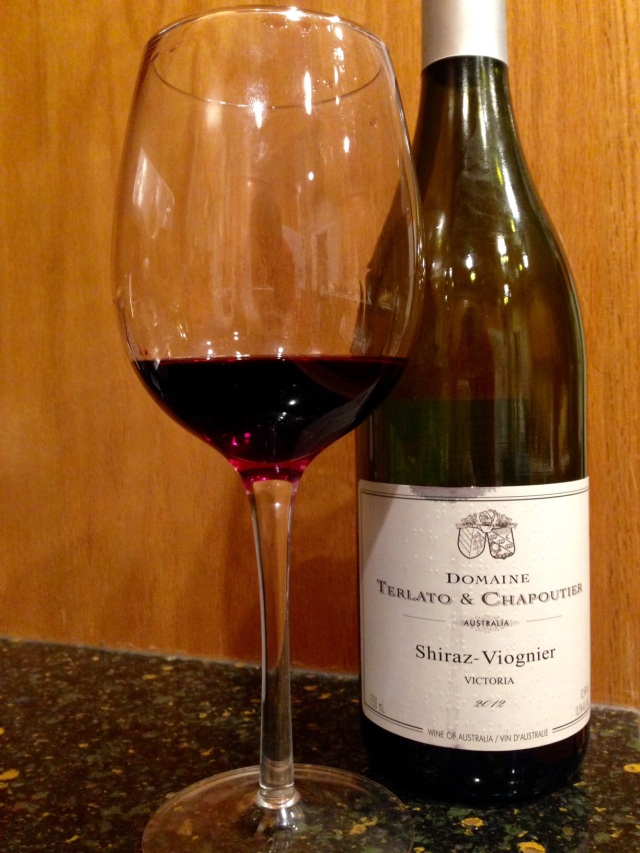Terlato chapotier Shiraz Viognier 2012 Australia wine