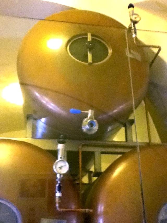 U Medvidku Brewery tanks