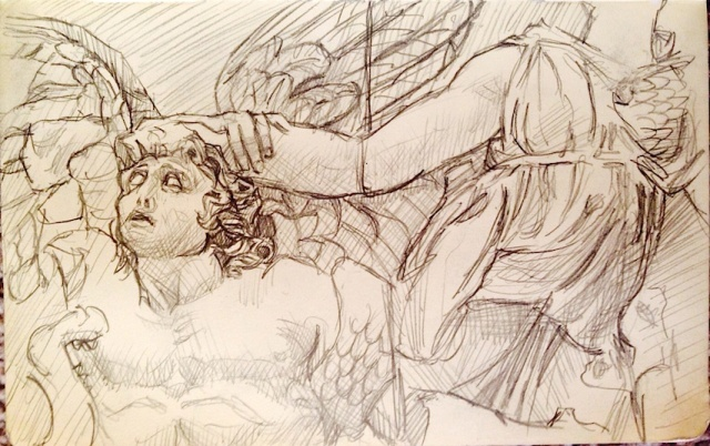 Pergamon Altar Drawing
