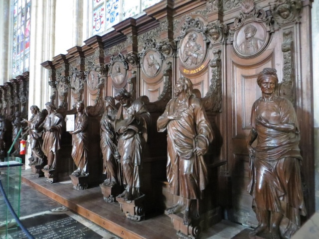 Wood Stalls Antwerp Basilica
