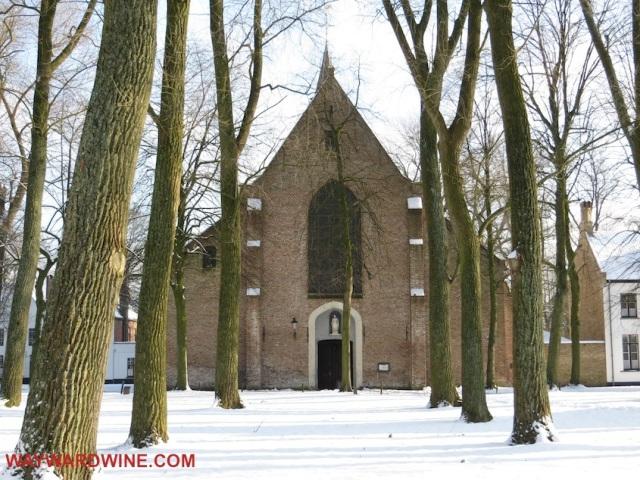 Beguinage chapel Bruges Belgium