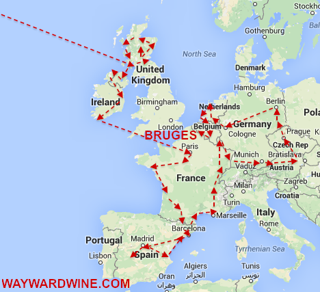 EU Map New York To Bruges Day 180