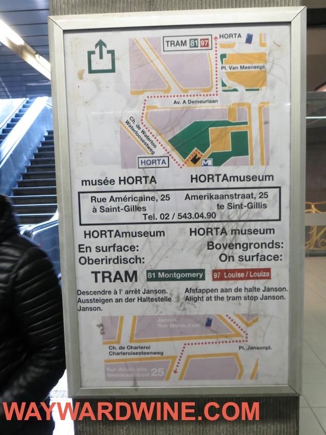 Hort Museum Metro Map Brussels