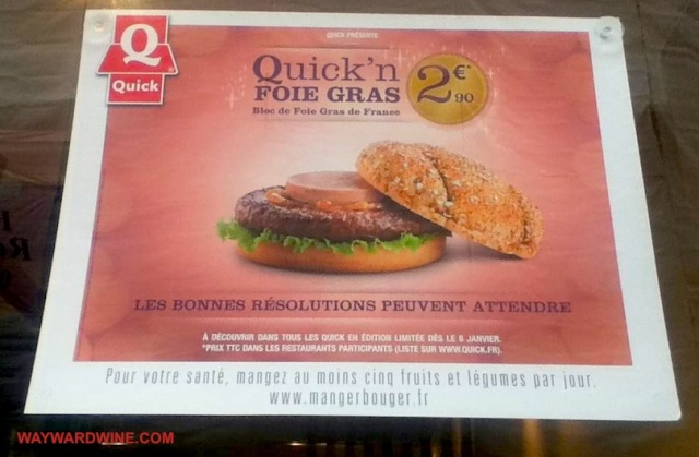 Quick Fois Gras Burger