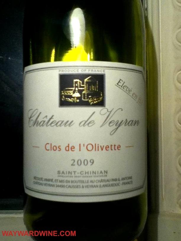 Chateau de Veyron Clos de l Olivette 2009