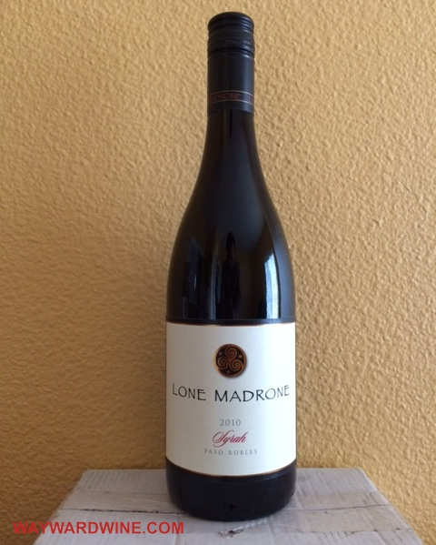 Lone Madrone Syrah 2010 Paso Robles