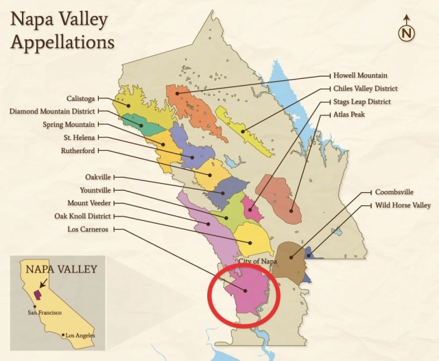 Carneros Napa Valley Map