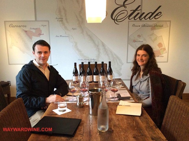 Tracy and Aaron Etude Winery Tasting