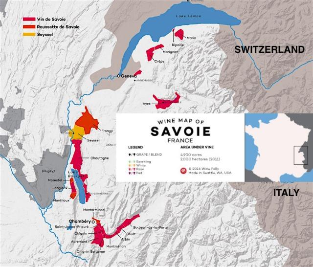 Savoie Wine Map