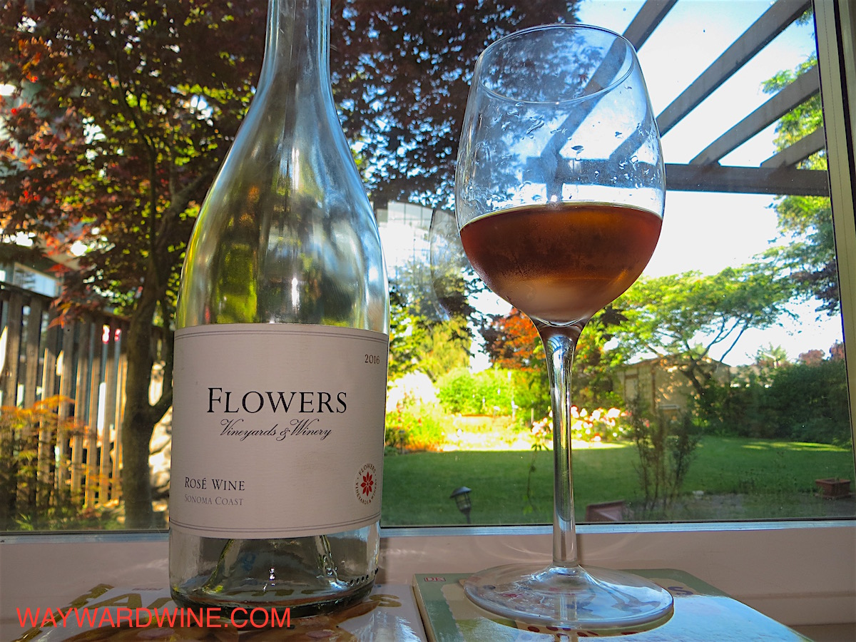 4th of July Wine Review Flowers, Rosé of Pinot Noir, Sonoma