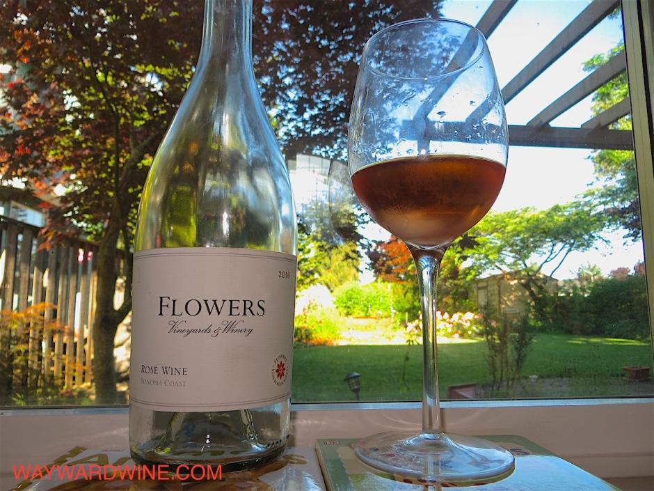 Flowers Pinot Noir Rose Wine Sonoma