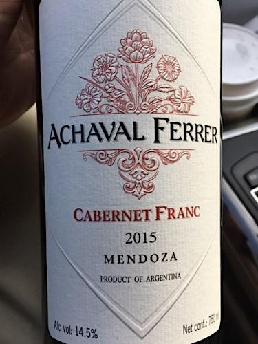 Achaval Ferrer Cabernet Franc 2015 Mendoza Argentina Wine