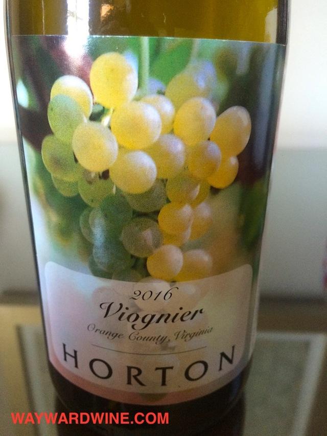 Horton Viognier Virginia 2016