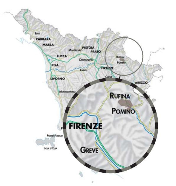 Pomino Map