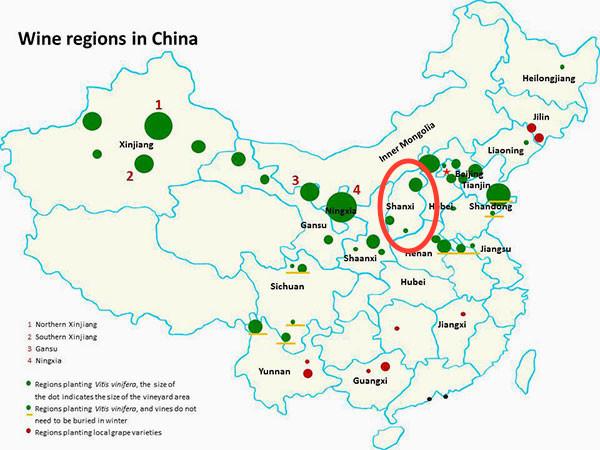 China Wine Regions