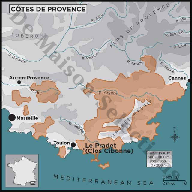 Clos Cibonne Map Provence