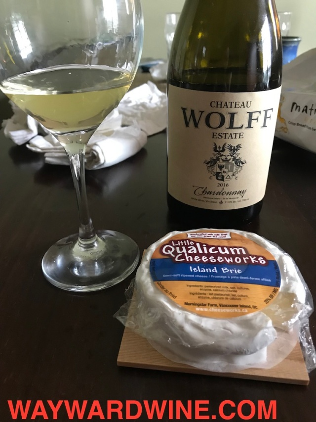 Wolff Chardonnay and Brie Cheese