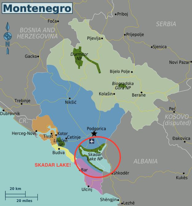 Montenegro Wine Regions